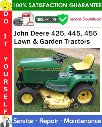 Thumbnail John Deere 425, 445, 455 Lawn & Garden Tractors Service Repair Manual PDF Download ◆