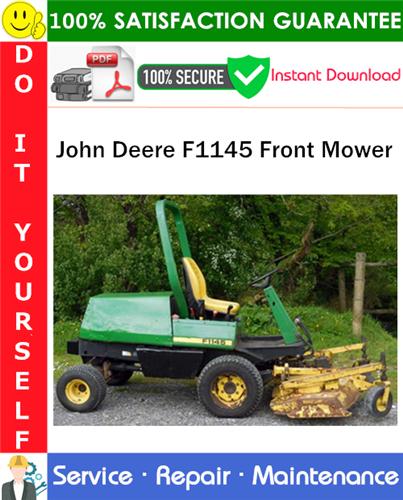 Thumbnail John Deere F1145 Front Mower Service Repair Manual PDF Download ◆