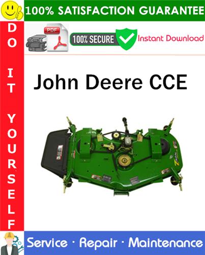 Thumbnail John Deere CCE Service Repair Manual PDF Download ◆