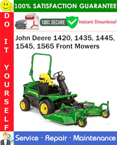 Thumbnail John Deere 1420, 1435, 1445, 1545, 1565 Front Mowers Service Repair Manual PDF Download ◆