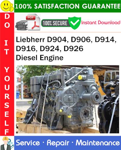 Thumbnail Liebherr D904, D906, D914, D916, D924, D926 Diesel Engine Technical Manual PDF Download ◆