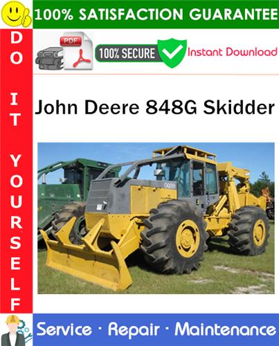 Thumbnail John Deere 848G Skidder Service Repair Manual PDF Download ◆