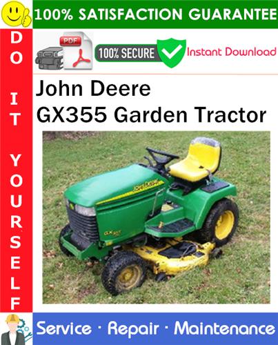 Thumbnail John Deere GX355 Garden Tractor Service Repair Manual PDF Download ◆