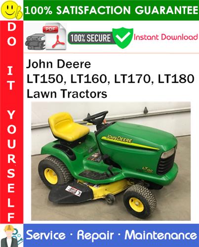 Thumbnail John Deere LT150, LT160, LT170, LT180 Lawn Tractors Service Repair Manual PDF Download ◆