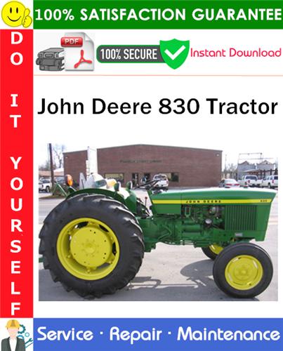 Thumbnail John Deere 830 Tractor Service Repair Manual PDF Download ◆