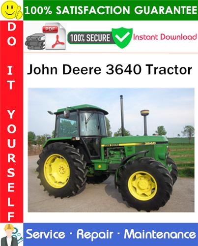 Thumbnail John Deere 3640 Tractor Service Repair Manual PDF Download ◆