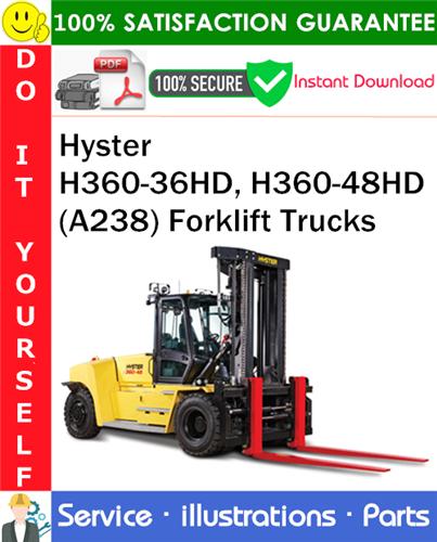 Thumbnail Hyster H360-36HD, H360-48HD (A238) Forklift Trucks Parts Manual PDF Download ◆