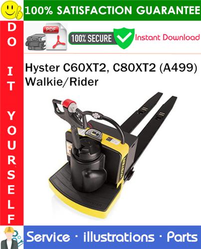 Thumbnail Hyster C60XT2, C80XT2 (A499) Walkie/Rider Parts Manual PDF Download ◆