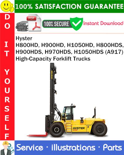 Thumbnail Hyster H800HD, H900HD, H1050HD, H800HDS, H900HDS, H970HDS, H1050HDS (A917) High-Capacity Forklift Trucks Parts Manual PDF Download ◆
