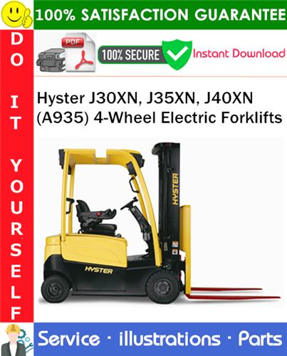 Thumbnail Hyster J30XN, J35XN, J40XN (A935) 4-Wheel Electric Forklifts Parts Manual PDF Download ◆