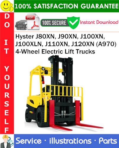 Thumbnail Hyster J80XN, J90XN, J100XN, J100XLN, J110XN, J120XN (A970) 4-Wheel Electric Lift Trucks Parts Manual PDF Download ◆