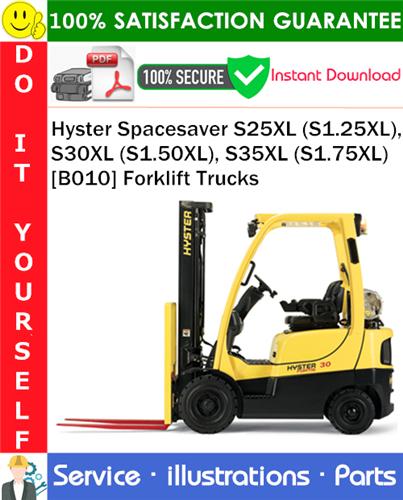 Thumbnail Hyster Spacesaver S25XL (S1.25XL), S30XL (S1.50XL), S35XL (S1.75XL) [B010] Forklift Trucks Parts Manual PDF Download ◆