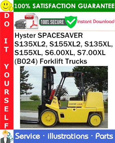 Thumbnail Hyster SPACESAVER S135XL2, S155XL2, S135XL, S155XL, S6.00XL, S7.00XL (B024) Forklift Trucks Parts Manual PDF Download ◆