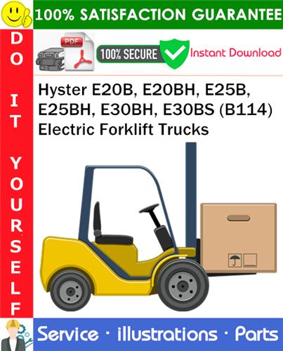 Thumbnail Hyster E20B, E20BH, E25B, E25BH, E30BH, E30BS (B114) Electric Forklift Trucks Parts Manual PDF Download ◆