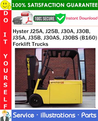 Thumbnail Hyster J25A, J25B, J30A, J30B, J35A, J35B, J30AS, J30BS (B160) Forklift Trucks Parts Manual PDF Download ◆