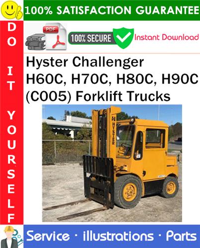 Thumbnail Hyster Challenger H60C, H70C, H80C, H90C (C005) Forklift Trucks Parts Manual PDF Download ◆