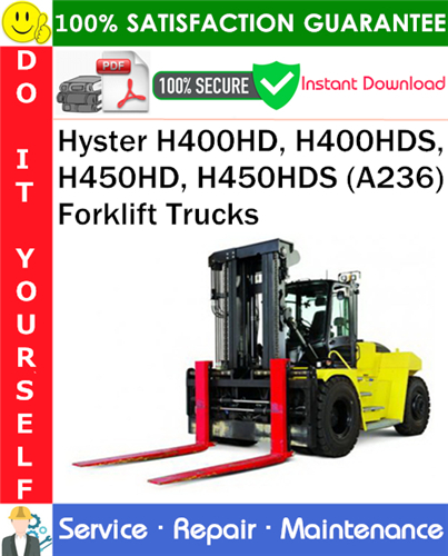Hyster H400hd  H400hds  H450hd  H450hds  A236  Forklift
