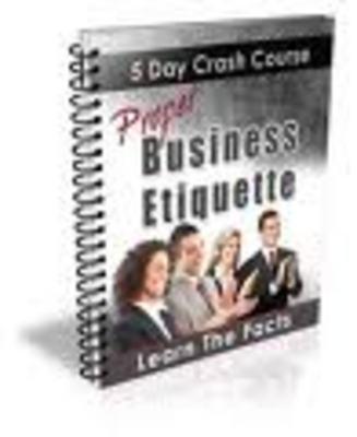 Pay for Proper Business Etiquette Crash Course-business culture