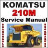 Thumbnail Komatsu 210M Dump Truck Service Shop Repair Manual BFA40A-BW & 23858-24370 - IMPROVED - DOWNLOAD