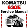 Thumbnail Komatsu 630E Dump Truck Service Shop Repair Manual - SEARCHABLE - IMPROVED - DOWNLOAD