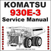 Thumbnail Komatsu 930E-3 Dump Truck Service Shop Repair Manual - SEARCHABLE - IMPROVED - DOWNLOAD
