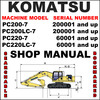 Thumbnail Komatsu PC200-7, PC200LC-7, PC220-7, PC220LC-7 Excavator Service Shop Repair Manual - IMPROVED - DOWNLOAD