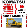 Thumbnail Komatsu PC200-6 PC200LC-6 PC210LC-6 PC220LC-6 PC250LC-6 Excavator Service Shop Repair Manual SN: A82001 & Up - DOWNLOAD