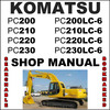 Thumbnail Komatsu PC200 PC200LC-6 PC200 PC200LC-6 PC210 PC210LC-6 PC220 PC220LC-6 PC230 PC230LC-6 Excavator Service Shop Repair Manual - DOWNLOAD