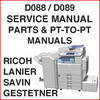 Thumbnail Ricoh Aficio MPC4501, Aficio MPC5501 Service, Parts & PTP Manuals - DOWNLOAD