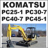 Thumbnail Komatsu PC25-1 PC30-7 PC40-7 PC45-1 Hydraulic Excavator Operation and Maintenance Manual - #1 DOWNLOAD