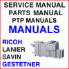 Thumbnail Ricoh Aficio MP6500, MP7500, MP6000, MP7000, MP8000 Service Manual, PTP, Parts Catalog Manuals - DOWNLOAD