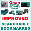 Thumbnail Onan MDGBA MDGCA MDGCB Genset Service Manual, Operators & Parts -3- Manuals - IMPROVED - DOWNLOAD