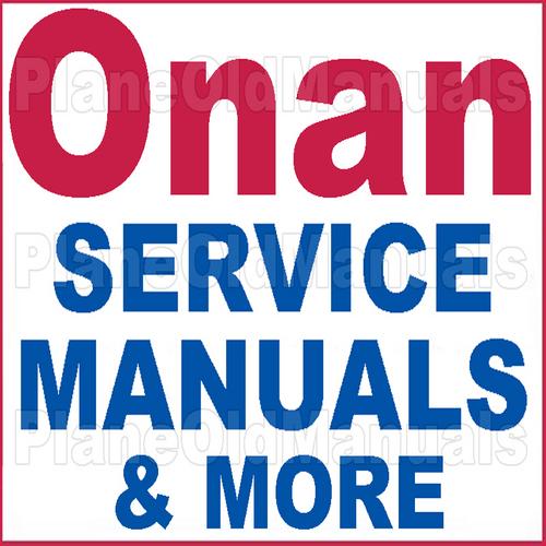 Onan Djb Service Repair Manual Amp Illustrated Parts Catalog border=