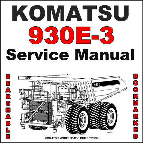 komatsu 930e 3 dump truck service shop repair manual searchable rh tradebit com Parts Manual Tractor Service Manuals