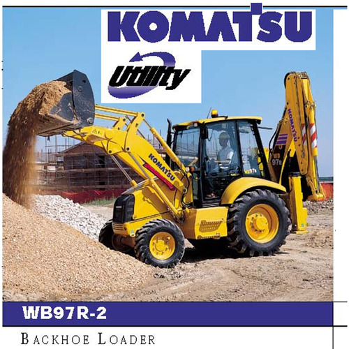 komatsu wb97r 2 sn 97f20172 up backhoe loader. Black Bedroom Furniture Sets. Home Design Ideas