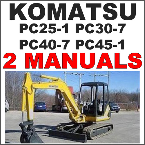 Excavator service manual operation maintenance 2 manuals download