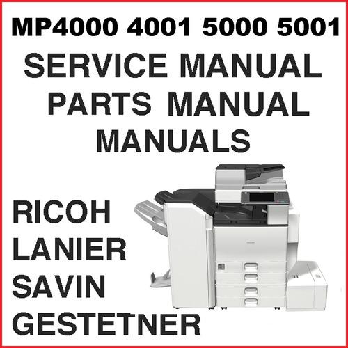 ricoh aficio mp4000 4001 mp5000 5001 service manual parts catal rh tradebit com Ricoh Aficio Printer Drivers Ricoh Aficio Support