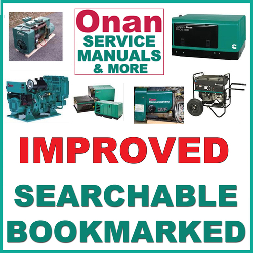 Onan Marine Generator parts Lookup Owners Manual
