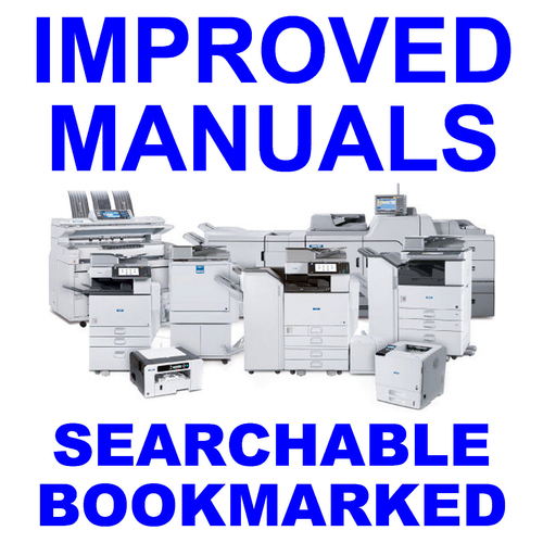 Pay for Collection of 4 files - Ricoh Aficio MP4002, MP4002SP, MP5002, MP5002SP (D129, D130) Service & Parts & Point to Point & Product Support Manuals - IMPROVED - DOWNLOAD