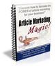 Thumbnail Article Marketing Magic PLR Autoresponder Messages