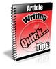 Thumbnail Article Writing Quick PLR Autoresponder Messages
