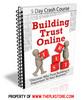 Thumbnail Building Trust Online PLR Autoresponder Messages