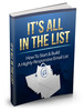 Thumbnail Its All In The List MRR Ebook with master resale rights