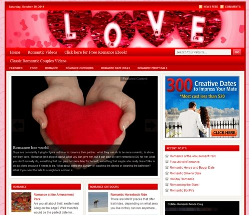 Pay for Romance PLR Website with Private Label Rights