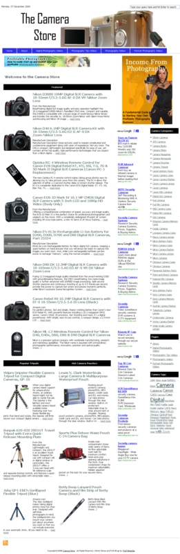 Pay for Camera PLR Amazon Turnkey Store Website