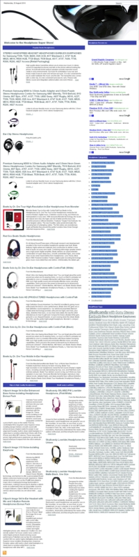 Thumbnail Headphones PLR Amazon Turnkey Store Website