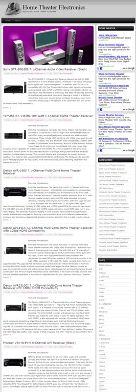 Thumbnail Home Theater PLR Amazon Turnkey Store Website