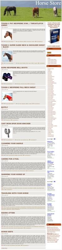 Thumbnail Horse Store PLR Amazon Turnkey Website