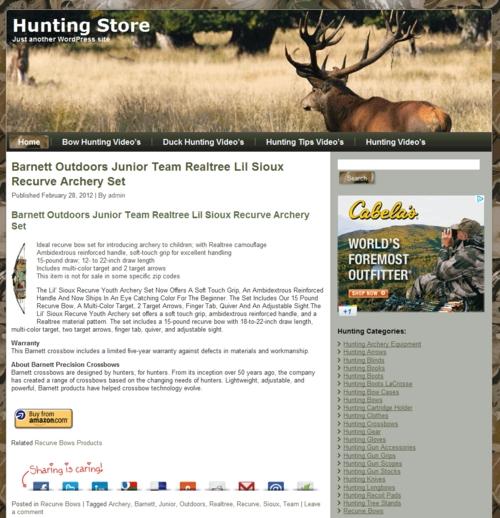 Thumbnail Hunting PLR Amazon Turnkey Store Website