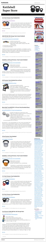 Thumbnail Kettlebell PLR Amazon Turnkey Website Store